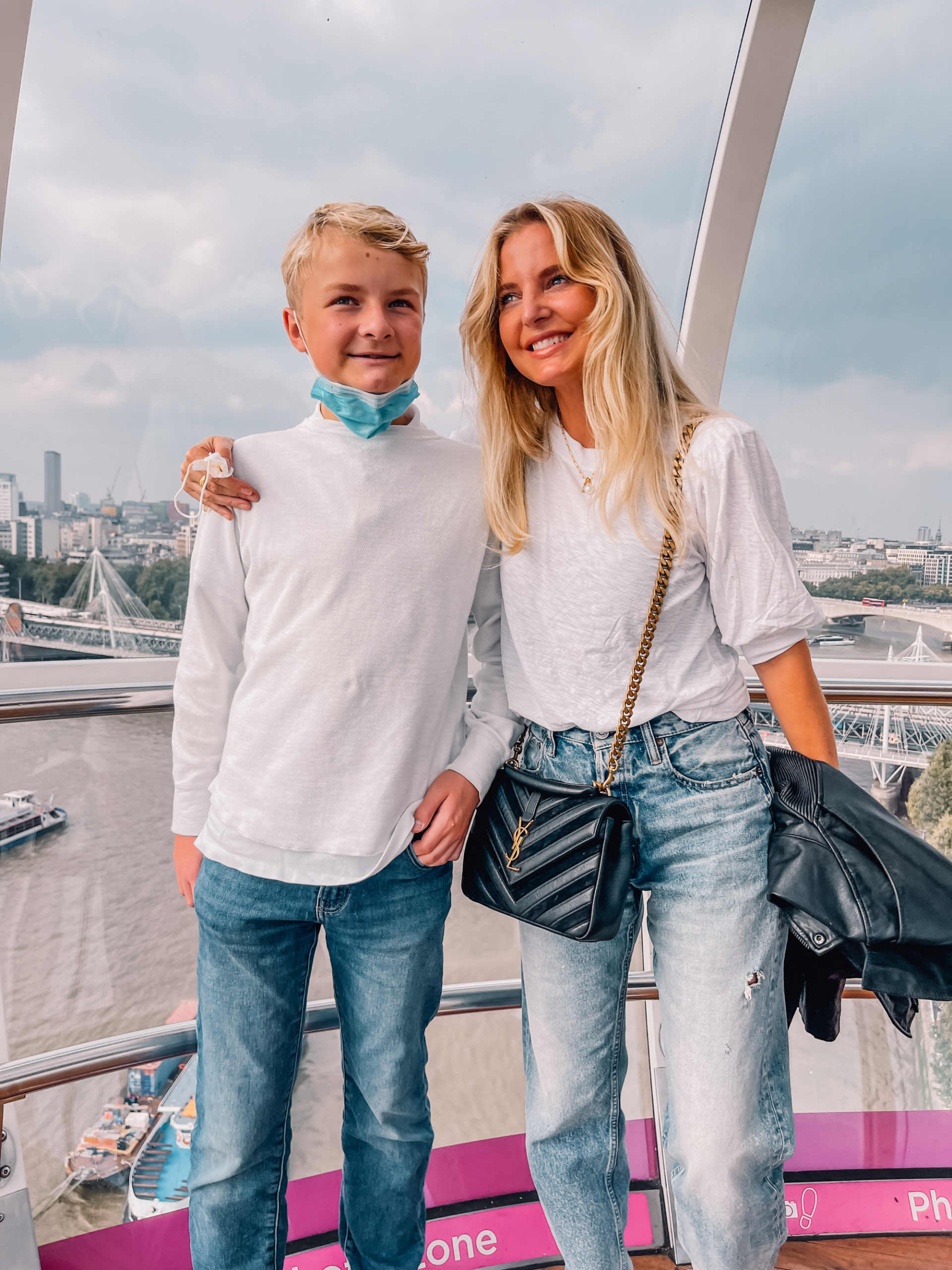 where to travel from spain, travel from spain, travel from madrid, erin bsubee, where to travel, weekend trips from spain, weekend trips from madrid, london, england, london eye, ysl chevron bag, nation ltd white tee, moussy lomita jeans, black leather moto jacket